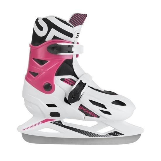 Tél korcsolyát Spokey RIPPLE fehér-rózsaszín szabályozott