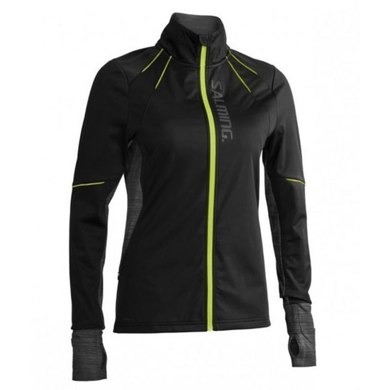 Kabát Salming Thermal Wind Jacket Women Black / Black Melange
