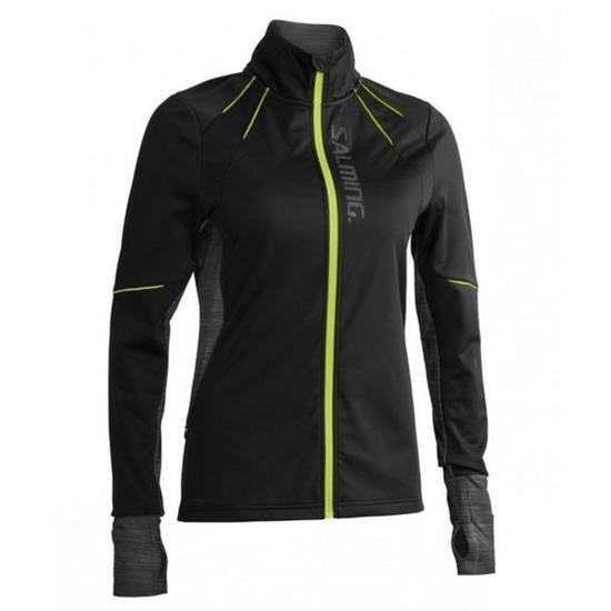 Kabát Salming Thermal Wind Jacket Women Black / Black Melange