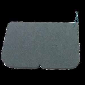 Széklet Alu EVA 245 x 190 x 14 mm fekete, Yate