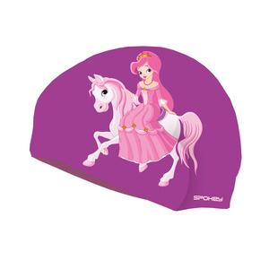 Gyermek úszás sapka Spokey STYLO Junior lila hercegnő, Spokey