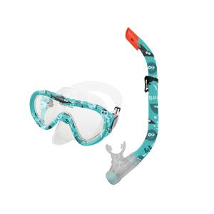 Készlet pipa szemüveg + TAHITI JUNIOR zöld vízi világ, Spokey