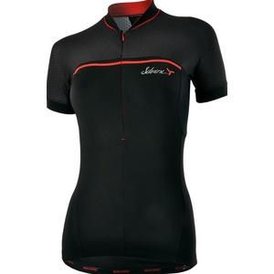 Női kerékpáros mez Silvini CATIRINA WD1002 black-red, Silvini