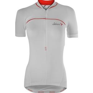 Női kerékpáros mez Silvini CATIRINA WD1002 fehér-piros, Silvini