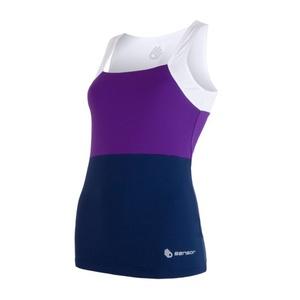 Női trikó Sensor Infinity fehér / lila / sötét kék 17100112, Sensor