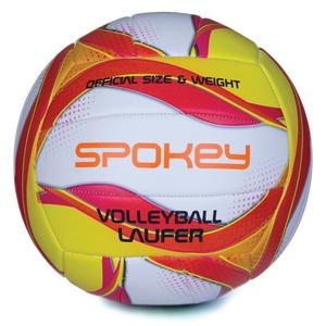 Röplabda labda Spokey LAUFER fehvena-piros-sárga, Spokey
