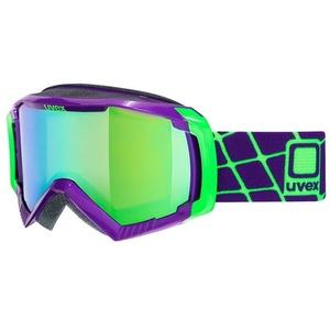 Ski szemüveg Uvex G.GL 100, dark lila / litemirror green (9926), Uvex