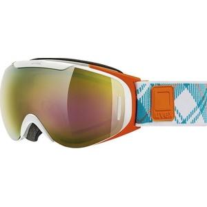 Ski szemüveg Uvex G.GL 9 RECON READY, fehér-narancs double lencse / litemirror arany (1126), Uvex