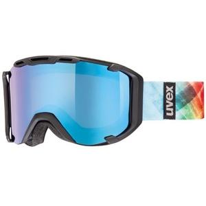 Ski szemüveg Uvex SNOWSTRIKE PM, black sakk és matt double lencse / polavision litemirror kék / átlátszó (2226), Uvex