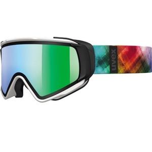Ski szemüveg Uvex Jakki TAKE OFF, white mat / litemirror green (1226), Uvex