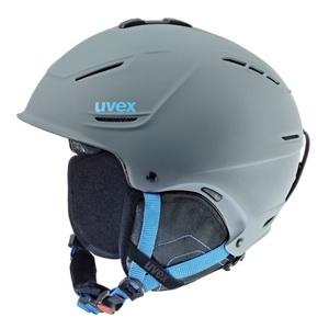 Ski sisak UVEX P1US, szürke-kék sakk és matt (S566153540*), Uvex