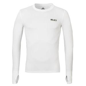 A tömörítés póló Select Compression T-shirt L / S 6902 fehér, Select