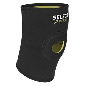 Kötszer térd Select Knee támogatás w / lyuk 6201 fekete, Select