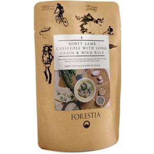 Élelmiszer Forestia Bárány pörkölt hús  hosszú gabona- és vadvízi rizs  hősugárzó, Forestia