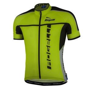 ultrakönnyű kerékpáros mez Rogelli UMBRIA 2.0  rövid ujj, fényvisszaverő sárga 001.248., Rogelli