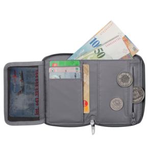 Levéltárca MAMMUT Zip Wallet Black 0001, Mammut