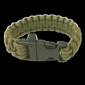 Karkötő HIGHLANDER Paracord trident / whistle / olive, Highlander