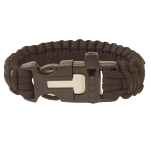 Karkötő HIGHLANDER Paracord trident / whistle / kerchief / fekete, Highlander