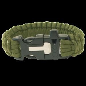 Karkötő HIGHLANDER Paracord trident / whistle / kerchief / olive, Highlander