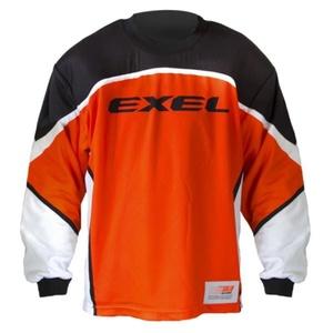 Golmanský mez EXEL S60 GOALIE JERSEY ifjabb narancs / fekete, Exel