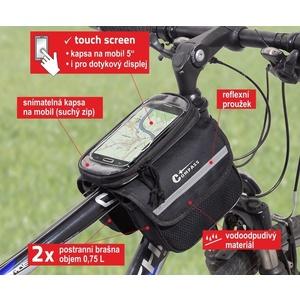 Cyklotaška felett keret kétoldalas + TELEFON Compass, Compass