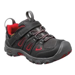 Gyerek cipő Keen OAKRIDGE LOW WP K, fekete / tangó, Keen