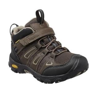 Gyerek cipő Keen OAKRIDGE MID WP K, vízesés barna / csíkos, Keen