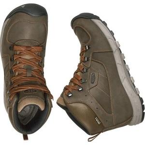 Férfi cipő Keen nyugat felé MID Leather WP M, dark olaj / rozsda, Keen