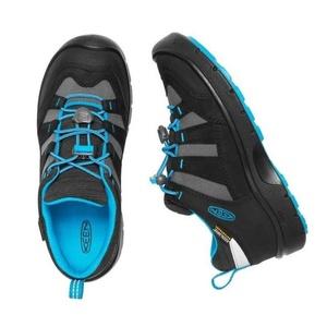 Gyerek cipő Keen Hikeport WP Jr, black/blue ékszer, Keen