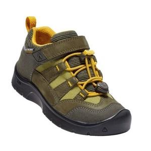 Gyerek cipő Keen Hikeport WP K, dark olajbogyó / citrusfélék, Keen