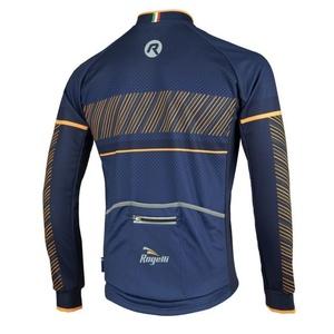 Jersey Rogelli RITMO  hosszú ujj, 001.257. blue-narancs, Rogelli