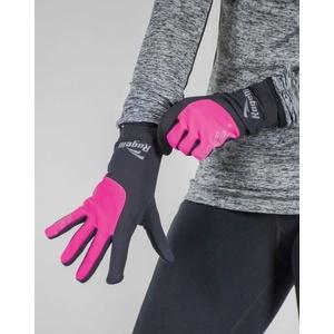 Női sífutó téli kesztyű Rogelli Touch, 890.004. fekete fényvisszaverő rózsaszín, Rogelli