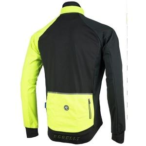 Férfi softshell dzseki Rogelli Contento, 003.140 fekete fényvisszaverő sárga, Rogelli