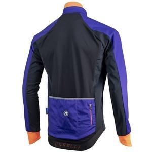 Férfi softshell dzseki Rogelli Contento, 003.141 kék-fekete-narancs, Rogelli