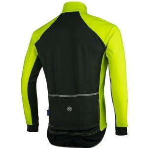 Férfi kerékpáros mez Rogelli All Seasons, 004.024. fényvisszaverő sárga és fekete, Rogelli