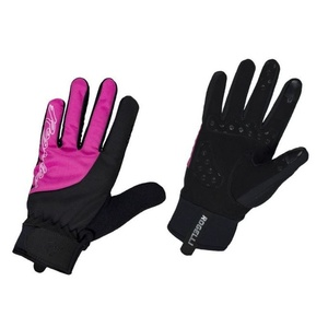 Női kerékpáros kesztyű Rogelli Storm, 010.656. fekete és rózsaszín, Rogelli