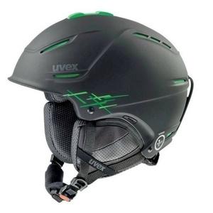 Ski sisak UVEX P1US PRO, black-green sakk és matt (S566156270*), Uvex