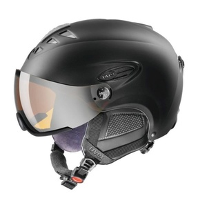 Ski sisak UVEX HLMT 300 VISOR, black sakk és matt (S566162220*), Uvex