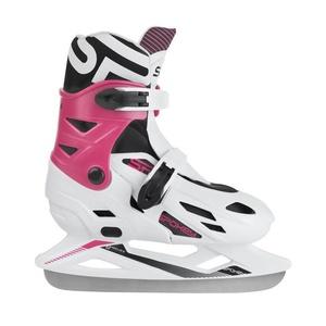 Tél korcsolyát Spokey RIPPLE fehér-rózsaszín szabályozott, Spokey