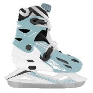 Tél korcsolyát Spokey RIPPLE fehér és kék szabályozott, Spokey