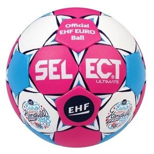 Kézilabda labda Select Félpanzió Ultimate EC Hivatalos Franciaország 2018 rózsaszín fehér, Select