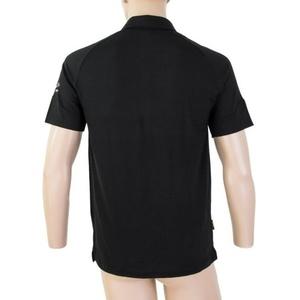 Férfi póló póló Sensor Merino Active, fekete 19100002, Sensor