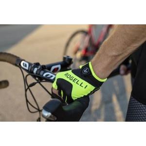 Kerékpáros kesztyű Rogelli Arioso, fényvisszaverő sárga 006.001., Rogelli