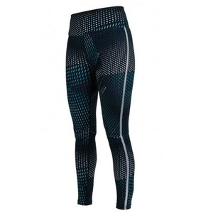 Lábszárvédő Salming Split Tights Women Deep Teal AOP, Salming
