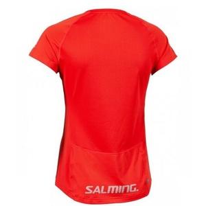 Női póló Salming Laser Tee Women Poppy Red Melange, Salming