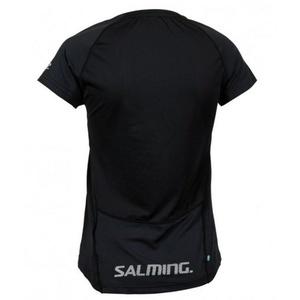 Női póló Salming Laser Tee Women Black Melange, Salming