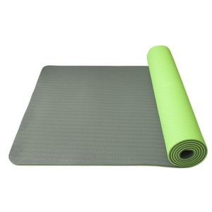 Mosó  jóga Jóga Mat double layer, anyag TPE zöld / szürke, Yate