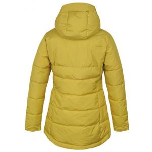 Női keménytdovodos megtöltött kabát Husky Nilit L sárga-zöld, Husky