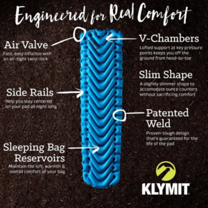 Felfújható laticel Klymit V Ultralite SL Grand Teton Artist Edition kék, Klymit