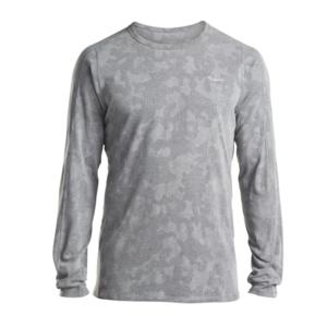 Férfi póló  hosszú ujj Saucony Men Negatív SPLT Jacquard Ls Dark Grey, Saucony